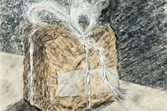 2013 Box Study: Watercolor, Charcoal, Graphite, Ink, Gesso